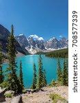 beautiful moraine lake in banff ... | Shutterstock . vector #708577339