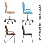 office or desk chair in various ... | Shutterstock .eps vector #708581665