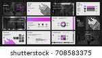 black and lilac elements on a...   Shutterstock .eps vector #708583375