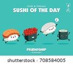 vintage sushi poster design...   Shutterstock .eps vector #708584005