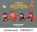 vintage halloween poster design ... | Shutterstock .eps vector #708584017