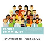 people characters set in flat... | Shutterstock .eps vector #708585721