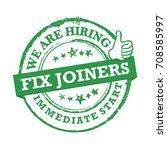 we are hiring   fix joiners....   Shutterstock .eps vector #708585997