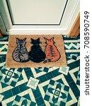 door mat | Shutterstock . vector #708590749