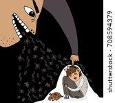 illustration about pressure on... | Shutterstock .eps vector #708594379
