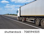 truck on road with container... | Shutterstock . vector #708594505