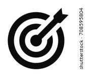 target icon. dart board....   Shutterstock .eps vector #708595804