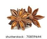 star anise spice group on white | Shutterstock . vector #70859644
