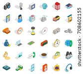 message icons set. isometric... | Shutterstock .eps vector #708602155