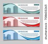 website horizontal business... | Shutterstock .eps vector #708603265
