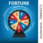 realistic 3d spinning fortune... | Shutterstock .eps vector #708603271