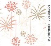 floral vector seamless pattern... | Shutterstock .eps vector #708606301