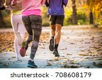 group of friends in sportswear... | Shutterstock . vector #708608179