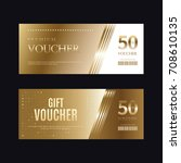 a variety of gold style coupon...   Shutterstock .eps vector #708610135