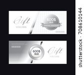 a variety of gold style coupon... | Shutterstock .eps vector #708610144
