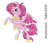 fairy tale character horse.... | Shutterstock .eps vector #708610339
