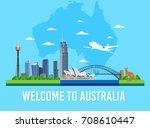 Australia Skyline Landmark And...
