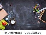 concept back to school alarm... | Shutterstock . vector #708610699