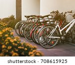Small photo of Bicycle parking near the house