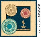 vector indian holiday postcard. ... | Shutterstock .eps vector #708616339