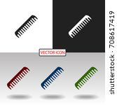 comb icon | Shutterstock .eps vector #708617419