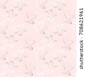 floral seamless pattern. pastel ... | Shutterstock .eps vector #708621961