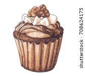 cake | Shutterstock . vector #708624175