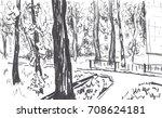 urban sketch | Shutterstock . vector #708624181