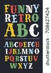 vector of vintage serif... | Shutterstock .eps vector #708627424