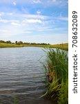 Small photo of Summer scene with river.River Krasivaya Mecha in Tula region,Russia