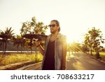 hipster style guy. fashion man ... | Shutterstock . vector #708633217