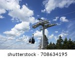 cable cars and blue sky | Shutterstock . vector #708634195