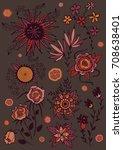 floral vector illustration of...   Shutterstock .eps vector #708638401