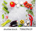 ingredients for cooking... | Shutterstock . vector #708639619