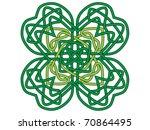 four leaf clover  vector... | Shutterstock .eps vector #70864495