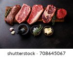 variety of raw black angus...
