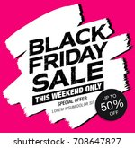 black friday sale banner | Shutterstock .eps vector #708647827