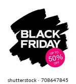 black friday sale banner | Shutterstock .eps vector #708647845