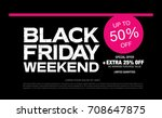 black friday sale banner | Shutterstock .eps vector #708647875