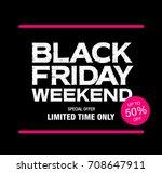 black friday sale banner | Shutterstock .eps vector #708647911