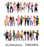 shopping gifts diversity | Shutterstock . vector #70864801