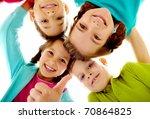 Photo Joyful Children Touching By - Fine Art prints