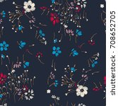 Flower Seamless Pattern. Field...