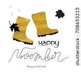 abstract vector watercolor... | Shutterstock .eps vector #708653215