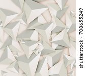 abstract 3d triangles on light... | Shutterstock .eps vector #708655249