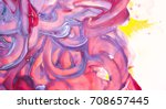 violet blue pink daubs close up | Shutterstock . vector #708657445