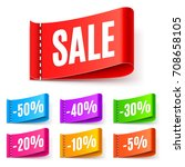 color sale tags | Shutterstock .eps vector #708658105
