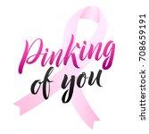 breast cancer awareness... | Shutterstock .eps vector #708659191