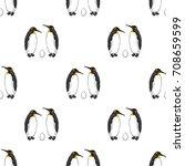 vector seamless pattern of bird ... | Shutterstock .eps vector #708659599