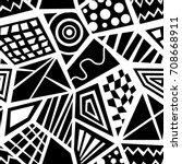 seamless abstract vector... | Shutterstock .eps vector #708668911